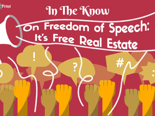 On Freedom of Speech: It's Free Real Estate